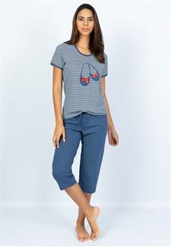 Комплект футболка капри - фото 10968