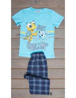 Комплект детский футболка капри - фото 4480