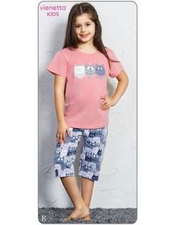 Комплект детский футболка капри - фото 4486