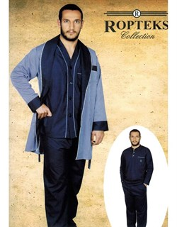 Комплект 2 пижамы+халат - фото 4496