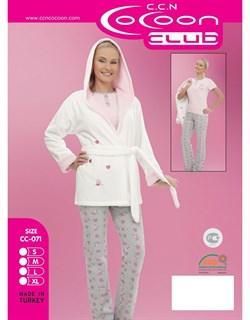 Комплект пижама халат 3в1 - фото 4621