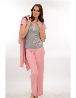 Комплект пижама халат - фото 4704