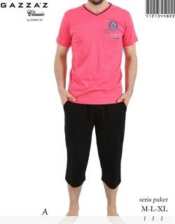 Комплект футболка капри - фото 4801