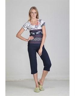 Комплект футболка капри - фото 4935