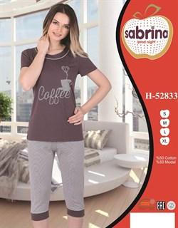 Комплект футболка капри - фото 4959