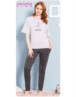 Комплект футболка брюки PINK - фото 4962
