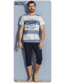 Комплект футболка капри - фото 4976