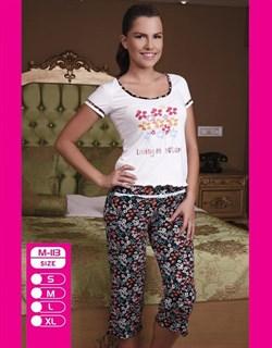 Комплект футболка капри - фото 4981