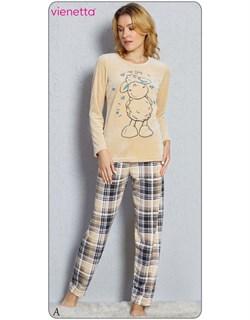 Пижама велюр - фото 5069