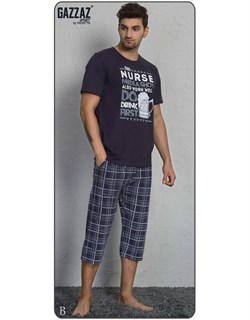 Комплект футболка капри - фото 5071