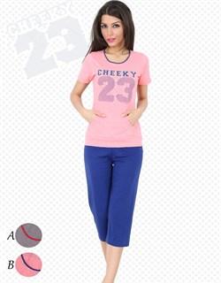 Комплект футболка капри - фото 5203
