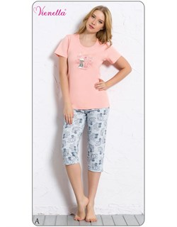 Комплект футболка капри - фото 5302
