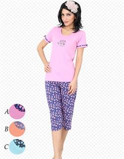 Комплект футболка капри - фото 5320
