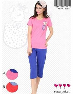 Комплект футболка капри - фото 5381