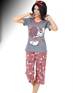 Комплект футболка капри - фото 5420