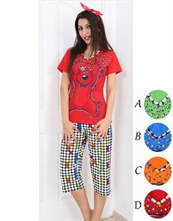 Комплект футболка капри - фото 5435