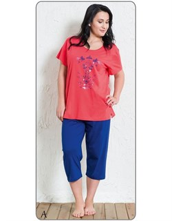 Комплект футболка капри - фото 5641
