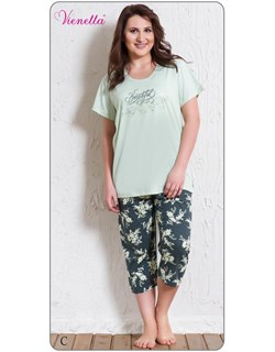 Комплект футболка капри - фото 5657