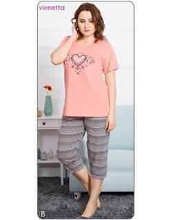 Комплект футболка капри - фото 5700