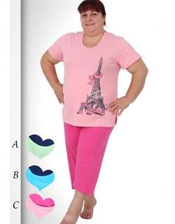 Комплект футболка капри - фото 5789