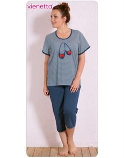 Комплект футболка капри - фото 5904