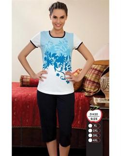 Комплект футболка капри - фото 6005