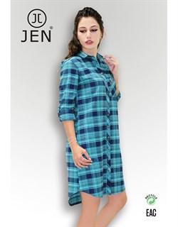 Платье-рубашка фланель - фото 6303