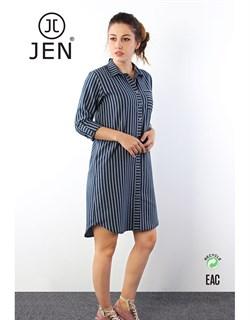 Платье-рубашка фланель - фото 6320