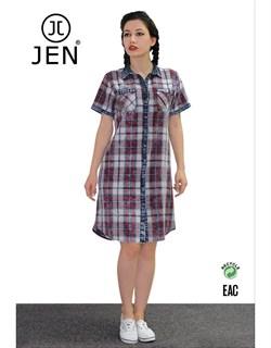Платье-рубашка джинсовое - фото 6321