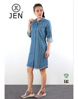 Платье-рубашка джинсовое - фото 6322
