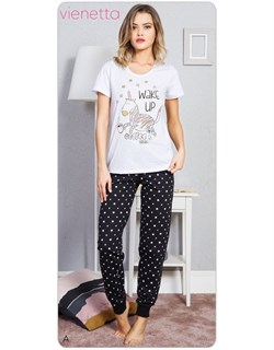 Комплект футболка брюки - фото 6476