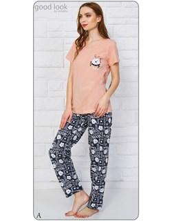 Комплект футболка брюки - фото 6478
