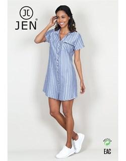 Платье-рубашка - фото 6852