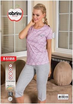 Комплект футболка капри - фото 6908