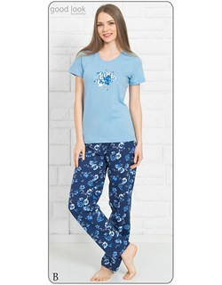 Комплект футболка брюки - фото 7060