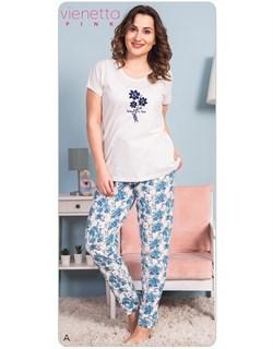 Комплект футболка брюки PINK - фото 7064