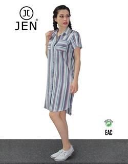 Платье-рубашка - фото 7116