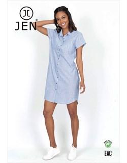 Платье-рубашка - фото 7178