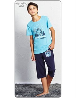 Комплект детский футболка капри - фото 7527