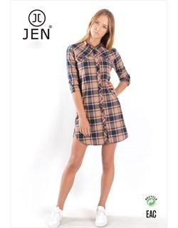 Платье-рубашка фланель - фото 7541