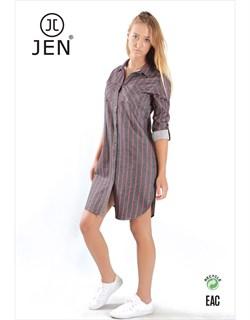Платье-рубашка фланель - фото 7544