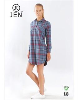 Платье-рубашка фланель - фото 7546