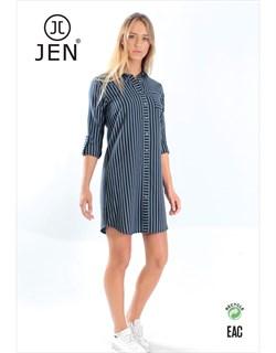 Платье-рубашка фланель - фото 7669
