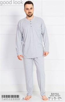 Пижама мужская байка - фото 7862