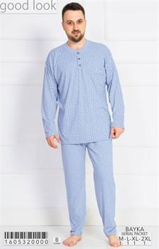 Пижама мужская байка - фото 7864