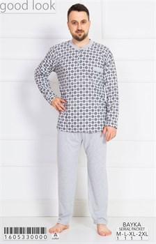 Пижама мужская байка - фото 7866
