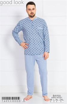 Пижама мужская байка - фото 7868