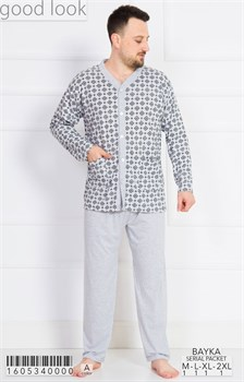 Пижама мужская байка - фото 7870