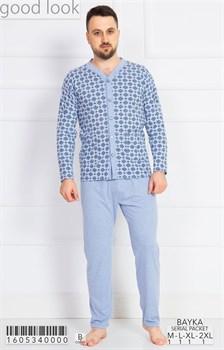 Пижама мужская байка - фото 7872