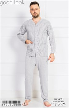 Пижама мужская байка - фото 7874